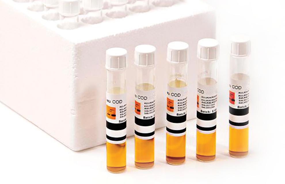 Tubetests pour photomètre COD/1000/M avec mercure (25) (pour niveaux de chlorure modérés), 10 - 1000 mg/L
