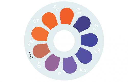 Disque pour comparateur couleur, zinc, 0 - 4 mg/L