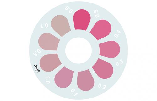 Disque pour comparateur couleur, sans chlore, chlore combiné & total (DPD), 0 - 1 mg/L