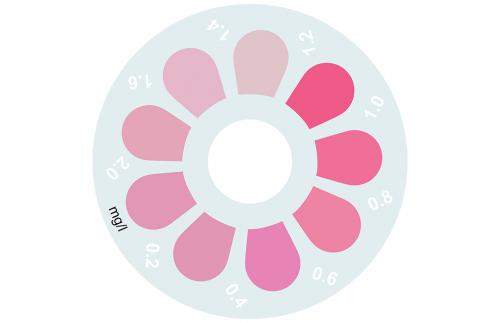 Disque pour comparateur couleur, sans chlore, chlore combiné et total (DPD), 0 - 2 mg/L
