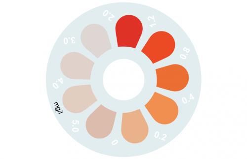 Disque pour comparateur couleur, manganèse HR, 0 - 5 mg/L