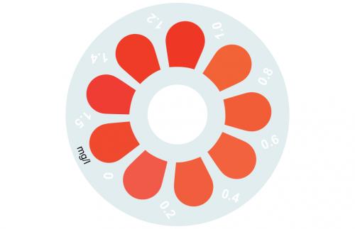 Disque pour comparateur couleur, fluorure, 0 - 1.5 mg/L