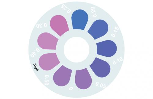 Disque pour comparateur couleur, sulfide, 0 - 0.5 mg/L
