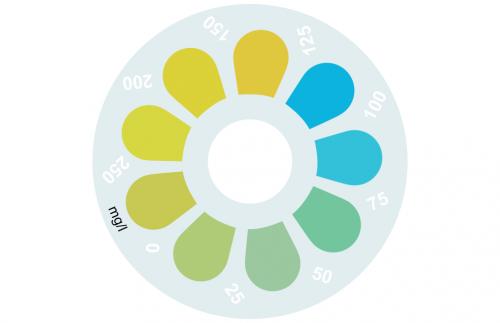 Disque pour comparateur couleur, alcalinité (Alkavis), 0 - 250 mg/L