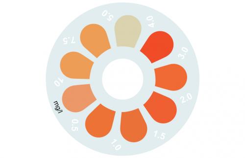 Disque pour comparateur couleur, fer MR, 0 - 10 mg/L