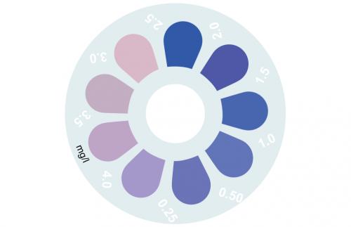 Disque pour comparateur couleur, silice, 0 - 4 mg/L