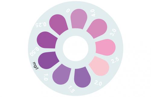 Disque pour comparateur couleur, phosphate LR, 0 - 4 mg/L