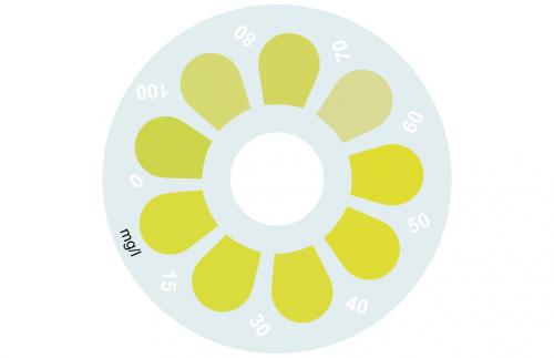 Disque pour comparateur couleur, phosphate HR, 0 - 100 mg/L