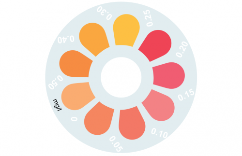 Disque pour comparateur couleur, aluminium, 0 - 0.5 mg/L