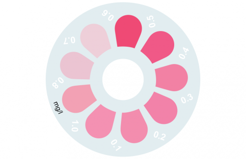 Disque pour comparateur couleur, peroxyde d'hydrogène LR, 0 - 1 mg/L